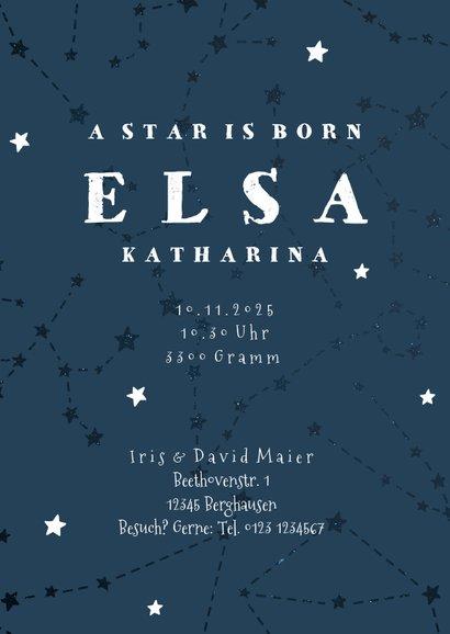 Geburtskarte Sternzeichen Skorpion Foto innen 3