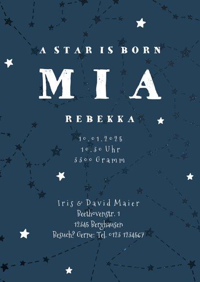 Geburtskarte Sternzeichen Steinbock Foto innen 3