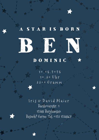 Geburtskarte Sternzeichen Stier Foto innen 3