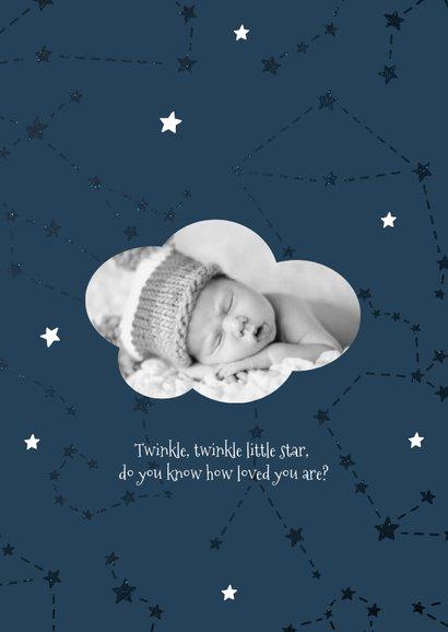 Geburtskarte Sternzeichen Waage Foto innen 2