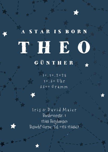 Geburtskarte Sternzeichen Waage Foto innen 3