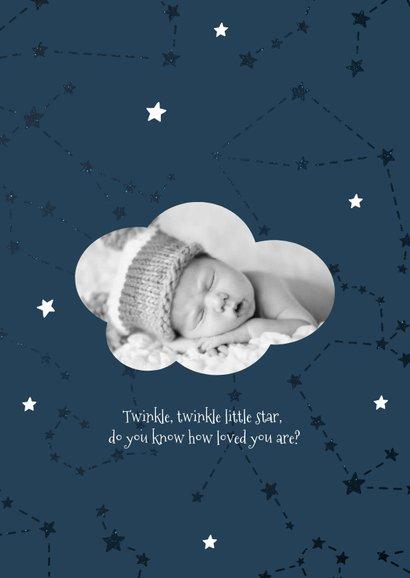 Geburtskarte Sternzeichen Wassermann Foto innen 2