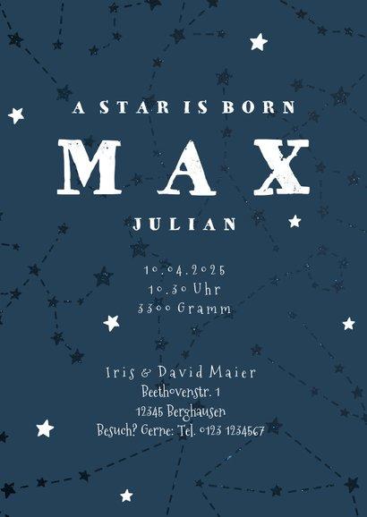 Geburtskarte Sternzeichen Widder Foto innen 3