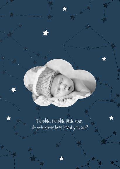 Geburtskarte Sternzeichen Zwilling Foto innen 2
