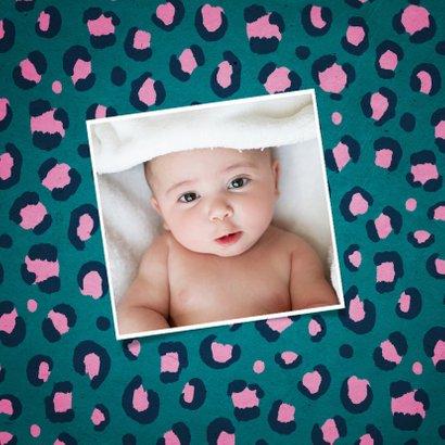 Geburtskarte Tiger und Pantherprint blau Foto innen 2