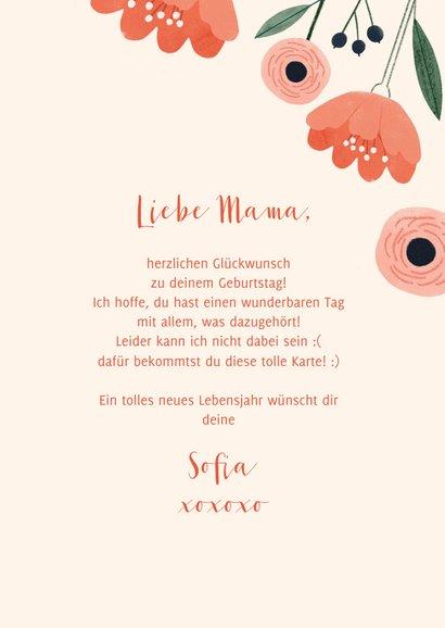 Geburtstag Karte Glückwunsch Blume 3