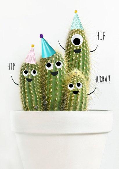 Geburtstags-Glückwunschkarte mit lustiger Kaktusparty 2