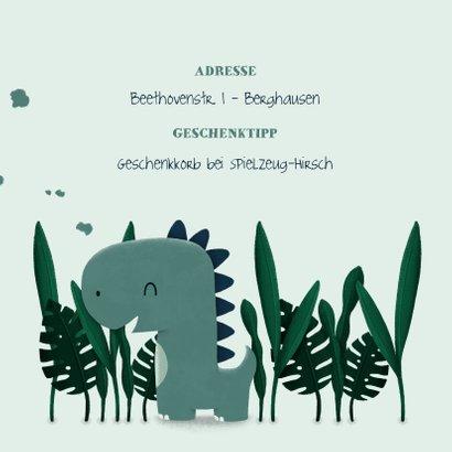 Geburtstagseinladung Dinosaurier-Junge mit Foto 2