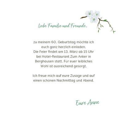 Geburtstagseinladung Frühlingsbote Vogel 3