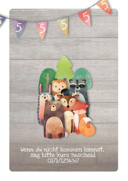 Geburtstagseinladung für Kinder Waldgeburtstag 2