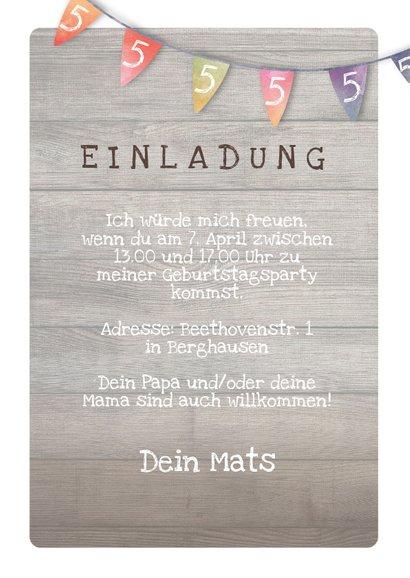 Geburtstagseinladung für Kinder Waldgeburtstag 3