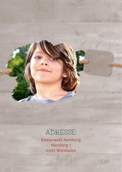 Geburtstagseinladung Kletterwald Neroberg 2