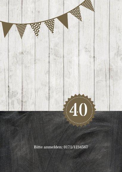Geburtstagseinladung Kontraste olive 40 2