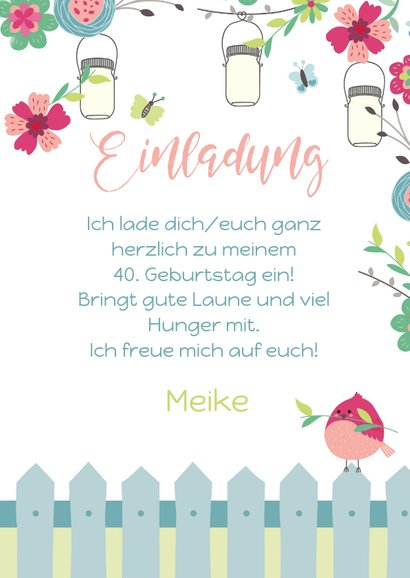 Geburtstagseinladung zum Gartenfest 3