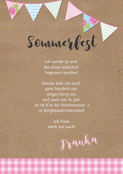 Geburtstagseinladung zum Sommerfest 3