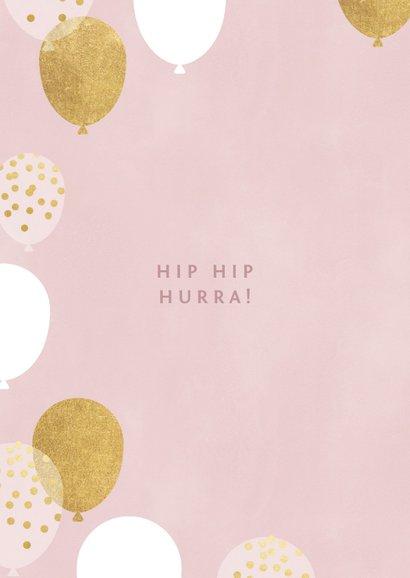 Geburtstagskarte 50. Geburtstag rosa & gold 2