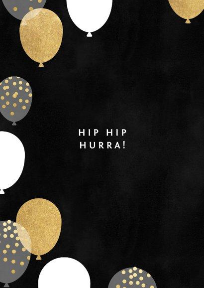Geburtstagskarte 50. Geburtstag schwarz & gold 2