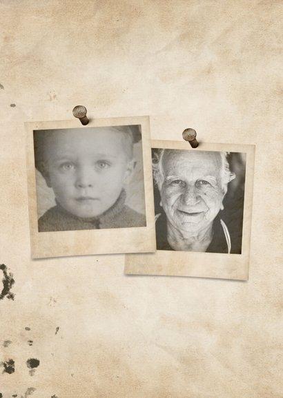 Geburtstagskarte 90 mit Fotos früher und heute 2
