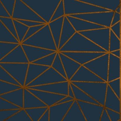Geburtstagskarte Birthday geometrisch dunkelblau 2