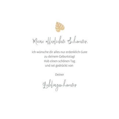 Geburtstagskarte Blätter in Pastell 3