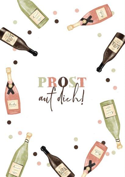 Geburtstagskarte Champagner und Wein 2