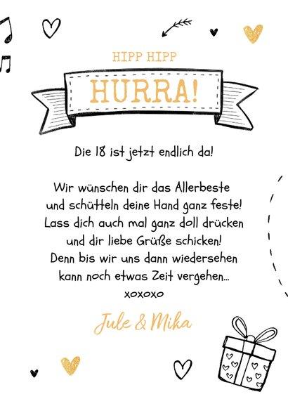 Geburtstagskarte Doodles Foto innen 3