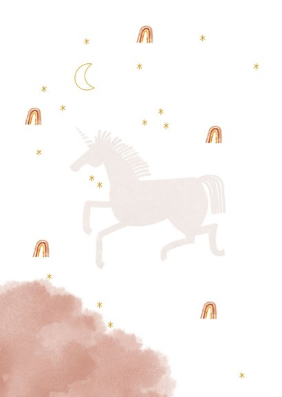 Geburtstagskarte Einhorn in den Wolken 2