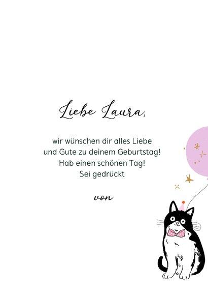Geburtstagskarte fröhliche Katze 3