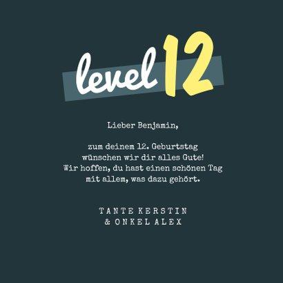 Geburtstagskarte Gaming Level 3