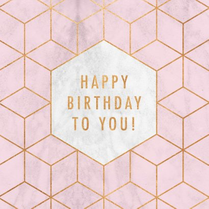 Geburtstagskarte geometrisch rosa 2