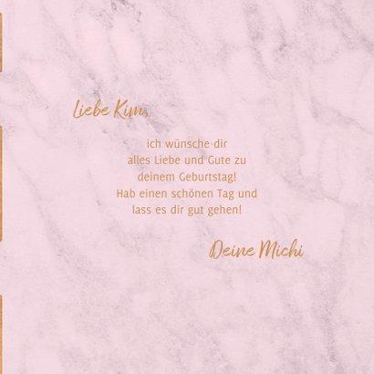 Geburtstagskarte geometrisch rosa 3