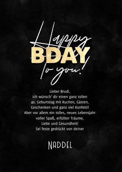 Geburtstagskarte Happy B-Day to you 3