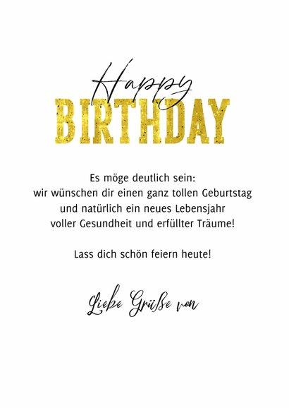 Geburtstagskarte 'Happy Birthday' mehrfarbig 3