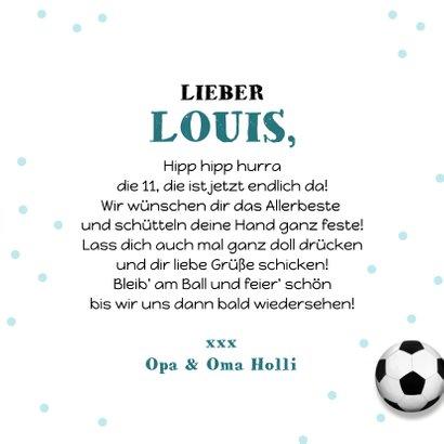 Geburtstagskarte Junge Fußball mit Foto 3