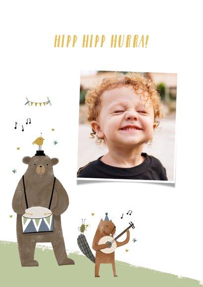 Geburtstagskarte Kind Tierorchester 2