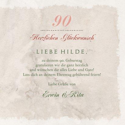 Geburtstagskarte klassische Rosen 3