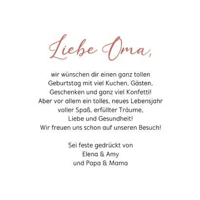 Geburtstagskarte Liebste Oma Fotocollage 3