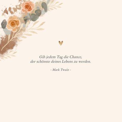Geburtstagskarte orangene Rosen 2