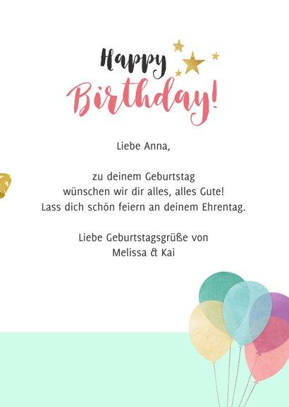 Geburtstagskarte Party-Murmeltier 3