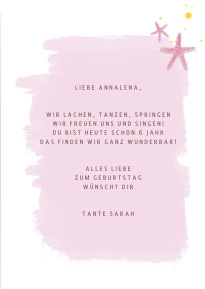 Geburtstagskarte Qualle & Seesterne 3