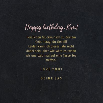 Geburtstagskarte Teetasse Cutea 3