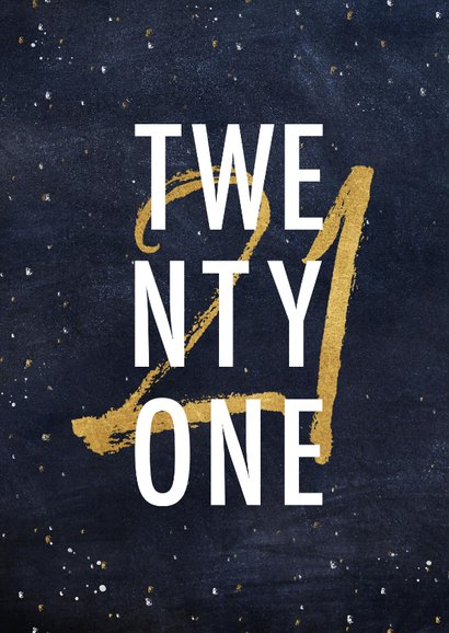 Geburtstagskarte Twentyone 2