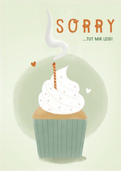Geburtstagskarte Uups zu spät Cupcake 2