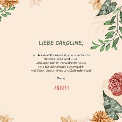 Geburtstagskarte Wegweiser mit Blumen 3