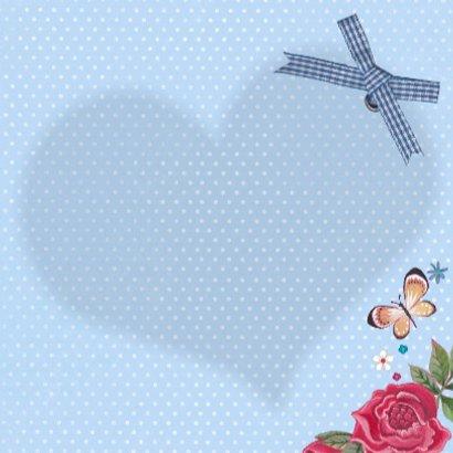 Gefeliciteerd Hart Hout Bloemen 3