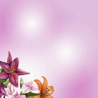 Gefeliciteerd met mooie lelies 2