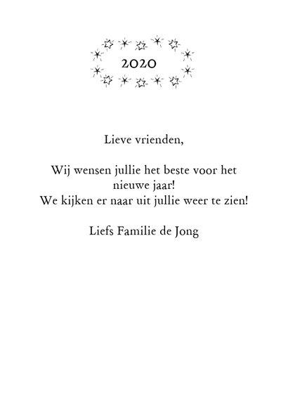 Gelukkig nieuwjaar 2020 zwart wit 3