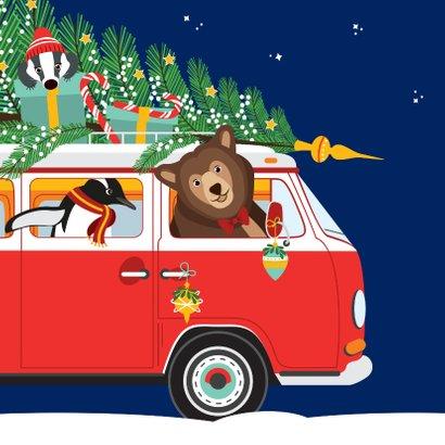 Gelukkig nieuwjaar voor iedereen vanuit een gezellige VW-bus 2