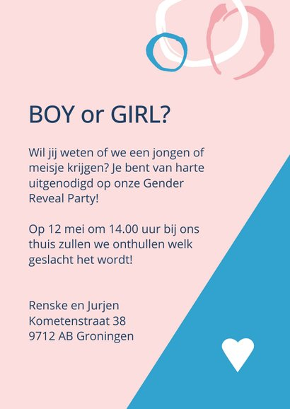 Gender Reveal uitnodiging 3
