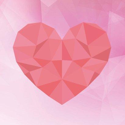 Geometrische Valentijns kaart 2